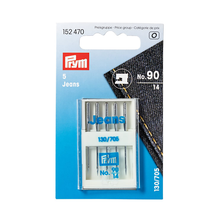 Prym Jeans sewing machine needles, 130/705, 90/14
