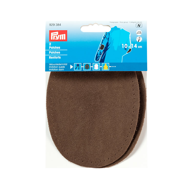 Prym Patches imitation suede, iron-on, 10 x 14cm, mid-brown