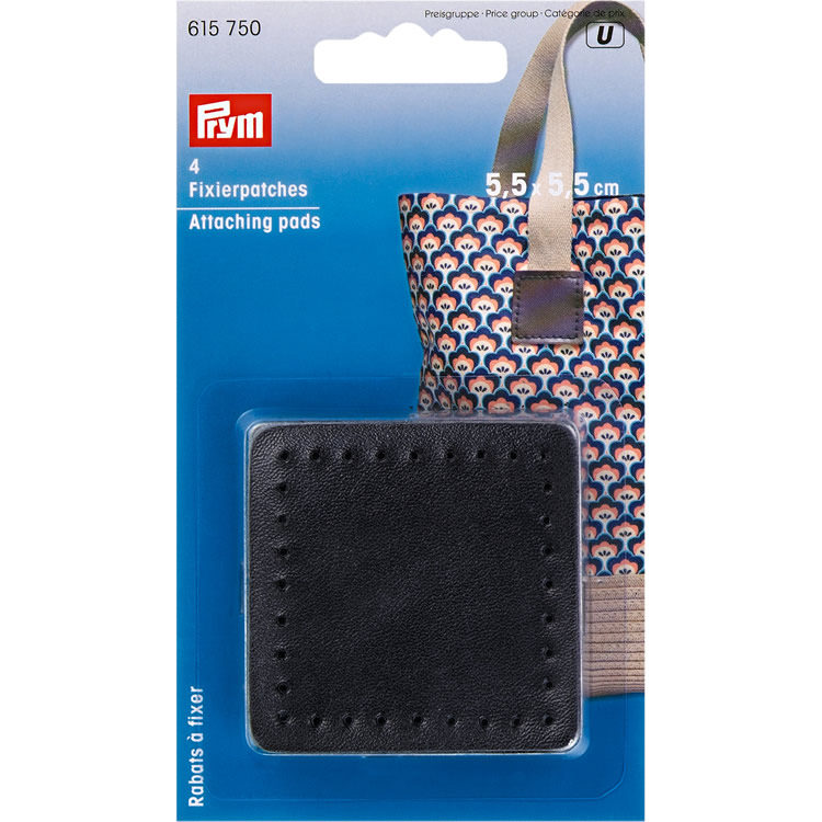 Prym Attaching pads, 5.5x5.5cm, black
