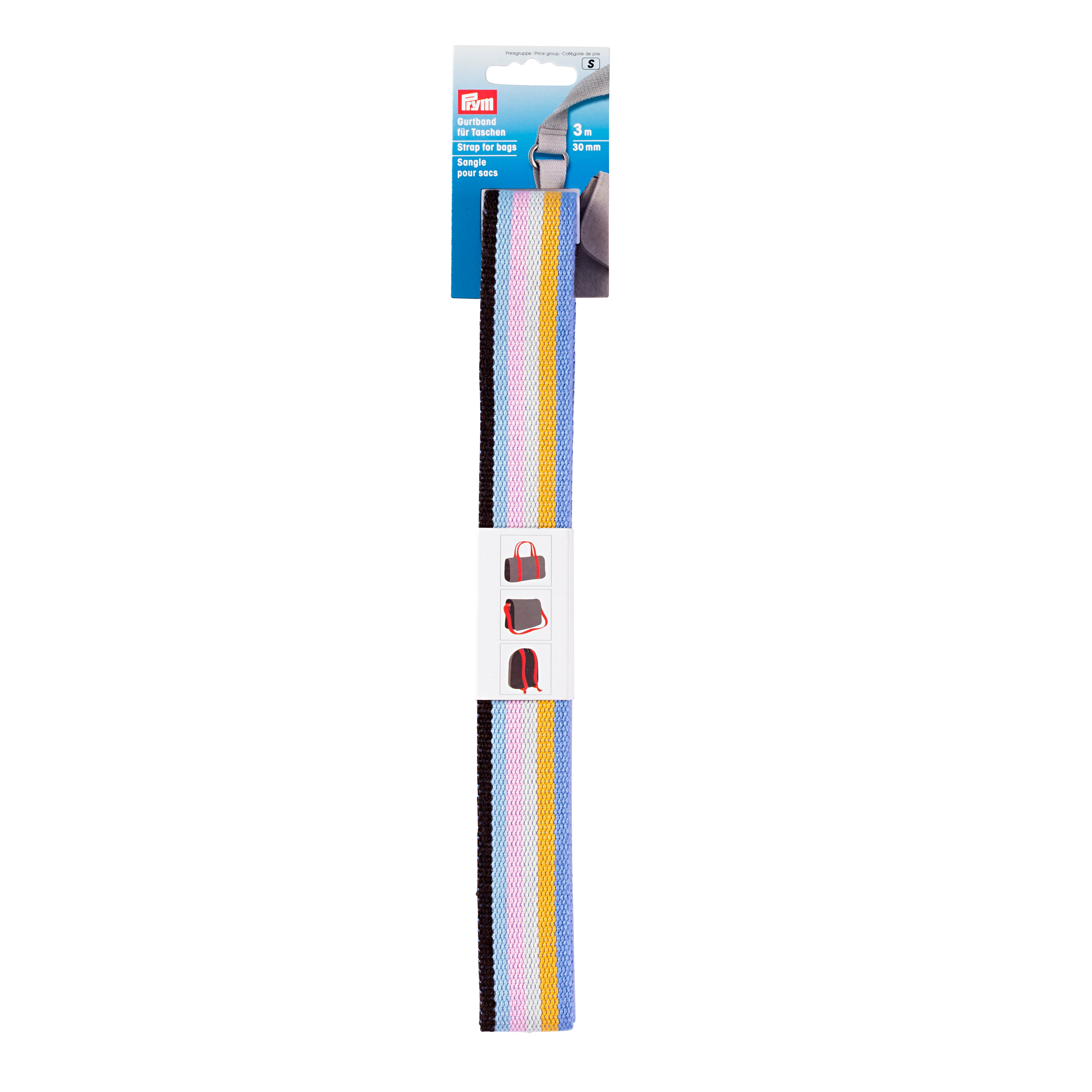 Prym Strap for bags, 30mm, blue/multicoloured
