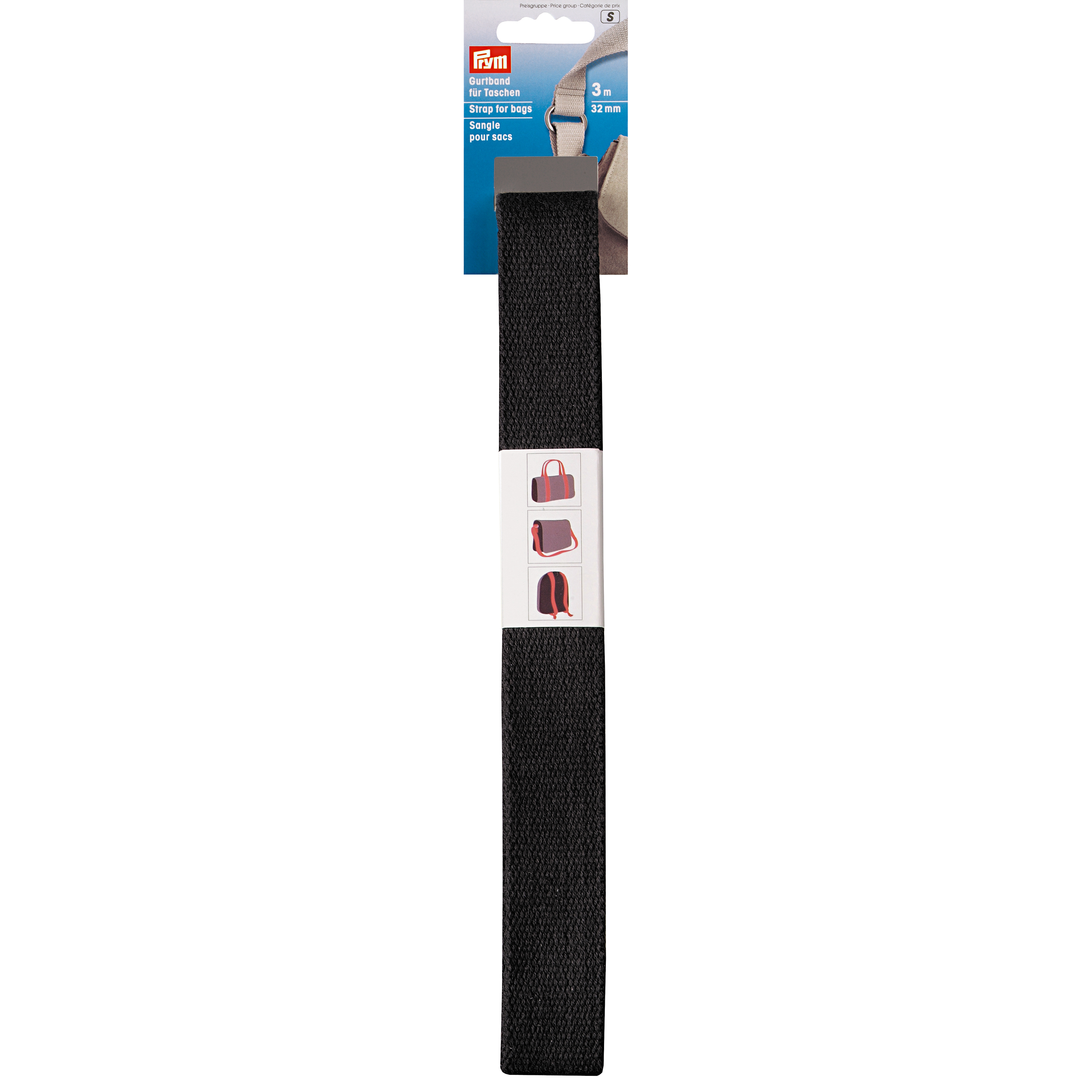 Prym Strap for bags, 30mm, black
