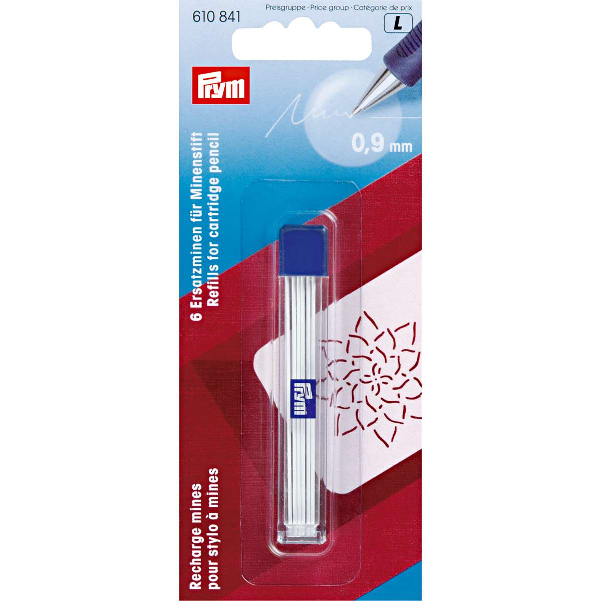Prym refills for cartridge pencil 0.9mm White