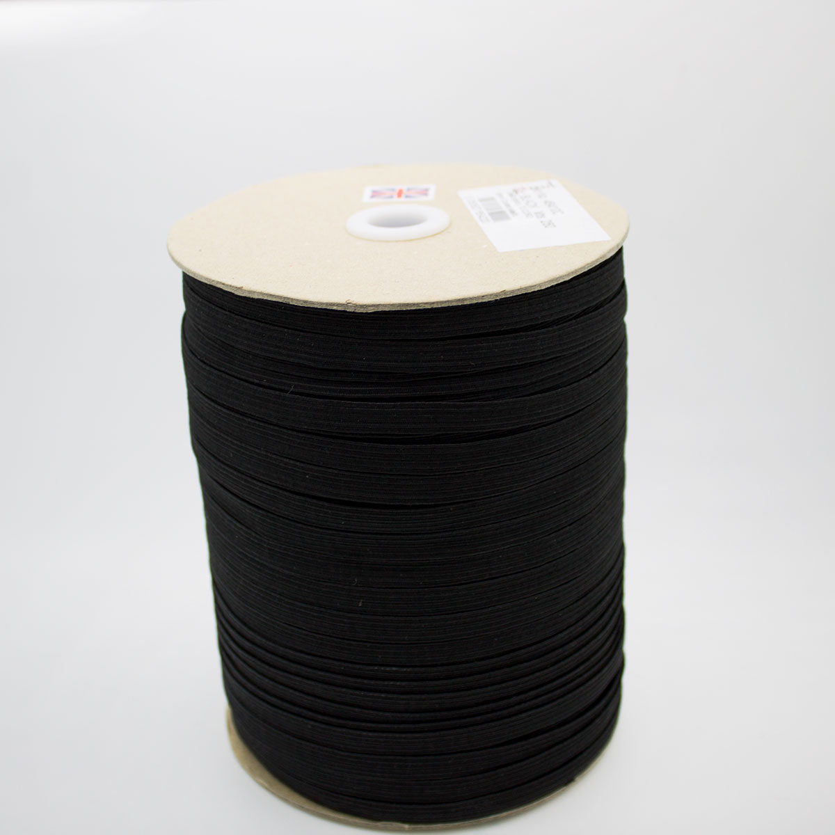 8mm 12 Cord Elastic Black