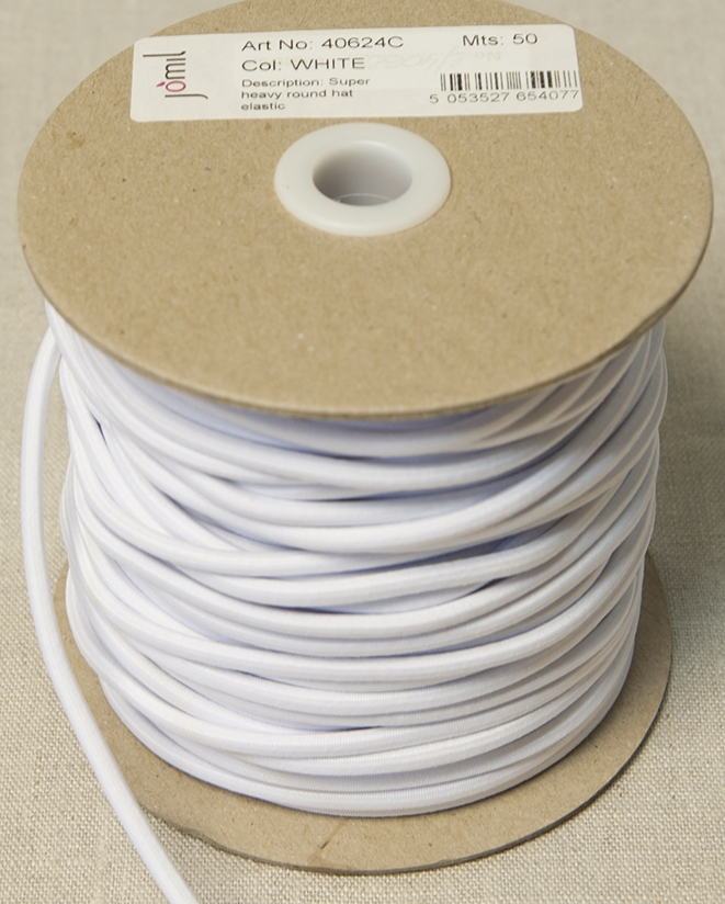 3.5mm Thick Round Elastic White