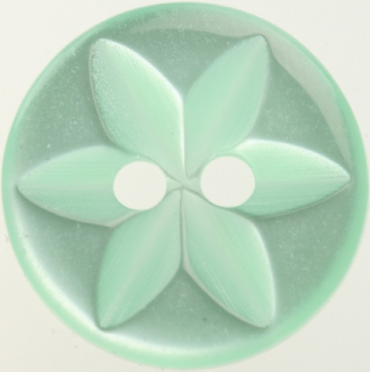 Star Green Button 14mm